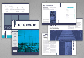 Corporate Style Magazine Layout with Blue Accents