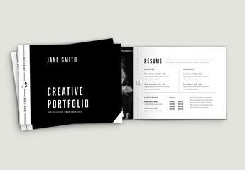 Minimalist Portfolio Layout with Bold Typography