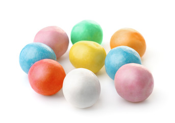 Group of colorful chewing  gum balls