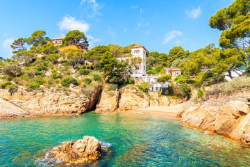 Wall Mural - Beautiful beach in picturesque Fornells village, Costa Brava, Spain
