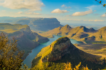 Beautiful and panoramic Blyde river canyon and Three Rondawels i Wall mural