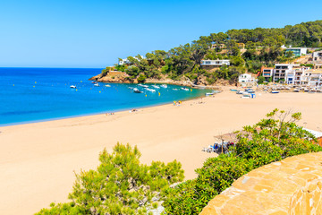Wall Mural - Picturesque bay with sandy beach in Sa Riera village, Costa Brava, Spain