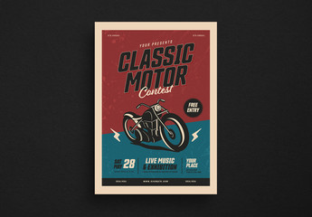 Classic Motor Show Event Flyer Layout