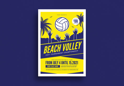 Beach Volleyball Tournament Flyer Layout