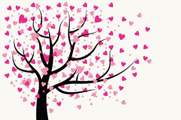 valentine's day love romantic happy gift card print heart tree