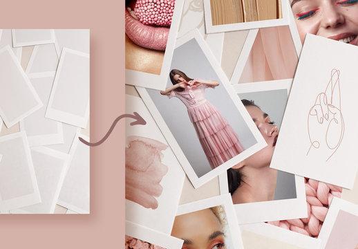 Realistic Photo Collage Mockup