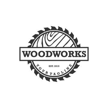 wood works logo design