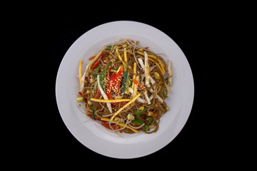 Bean Sprout, glass noodle with vegetables