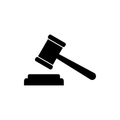 Gavel icon. Gavel icon vector. Judge Gavel Auction Icon Vector