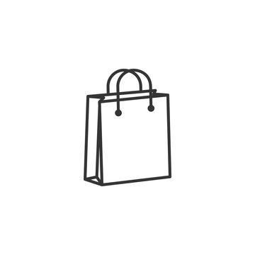 shoping bag icon black color editable. shoping bag symbol Flat vector sign isolated on white background. Simple vector illustration for graphic and web design.