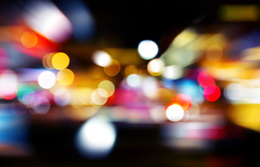 Abstract bokeh backgrounds with speed effect
