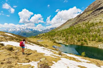 passeggiata primaverile in alta montagna