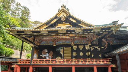 Der Kunozan Toshogu Schrein bei Shimizu
