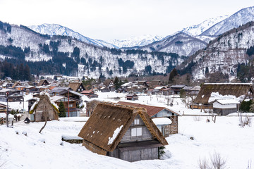 Wall Mural - Historic Villages of Shirakawa-go in Gifu, Japan