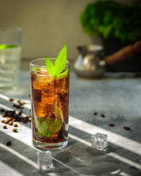 Refreshing hemp coffee drink