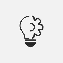 Lightbulb vector icon isolated on white background. Vector illustration. Eps 10.