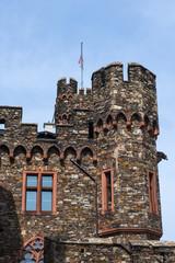 Detail dre Burg Reichenstein am Rhein