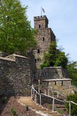 Aufgang zum Wachturm der Burg Reichenstein