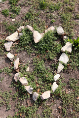 Heart shape from stones
