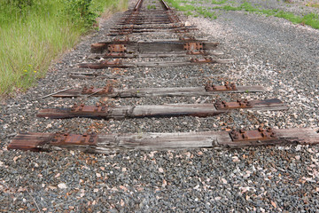 End of the old railway line