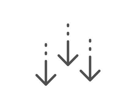 Scroll down arrow line icon