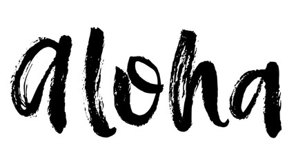 Summer brush lettering composition