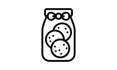 Thin line icons Cookie vector image