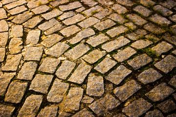 stone floor in the garden