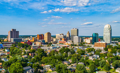 Winston-Salem, North Carolina NC Downtown Skyline Wall mural
