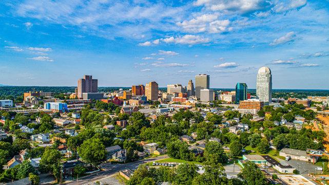 Downtown Winston-Salem, North Carolina NC Skyline Panorama