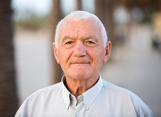 Portrait mature man in the park