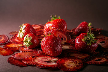 Strawberry chips Fototapete