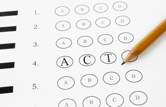 ACT multiple choice
