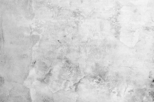 Old grunge white and gray tone concrete texture background
