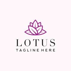 lotus logo icon line art illustration vector graphic download