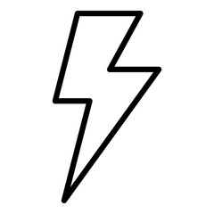 Lighting bolt icon. Outline lighting bolt vector icon for web design isolated on white background