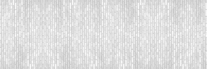 Wall Mural - horizontal white brick wall for pattern and background