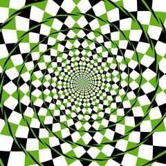 optical illusion spiral background