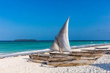 Foto auf Acrylglas Sansibar Muyuni white sand beach in Unguja aka Zanzibar Island Tanzania East Africa