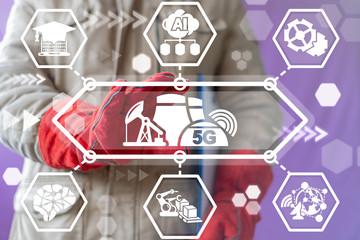 5g factory wireless network communication technology. Industry 4.0.