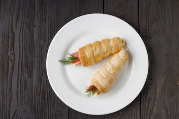 Ham and Swiss Cheese Roll-up: ketogenic diet Snack or lunch item
