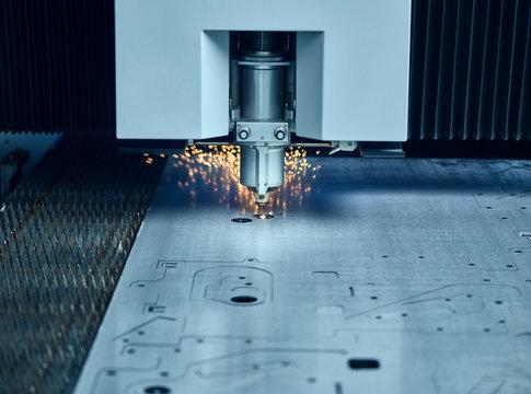 Close-up of laser cutter
