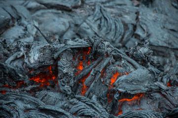 Active lava stream, Tolbachik volcano, Kamchatka, Russia
