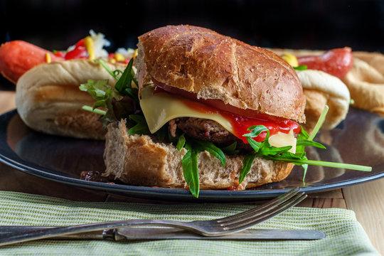 Barbecue Grilled Cheeseburger Hotdog