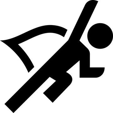 Heroic Flying Superhero Vector Icon