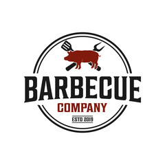 Barbecue and grill logo design