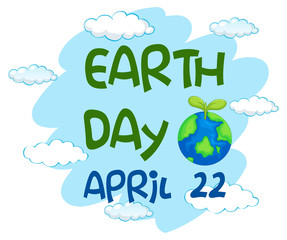 An earth day template