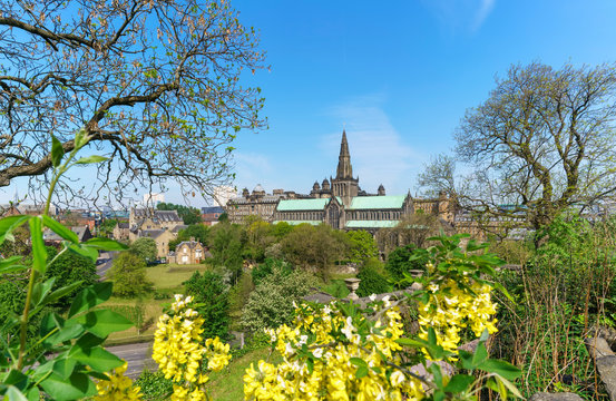 Glasgow Cathedral is the oldest cathedral on mainland and is the oldest building in Glasgow and also called St Mungo Cathedral , Scotland