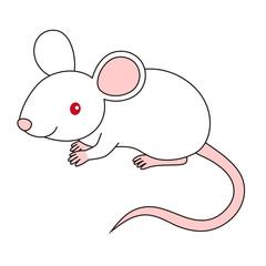 Foto op Plexiglas Babykamer ねずみ イラスト mouse