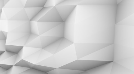 Abstract 3d rendering of triangulated surface. Modern background.